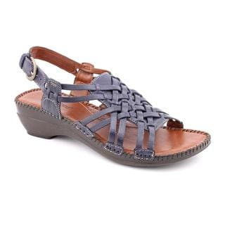 Auditions Women's 'Samba' Leather Sandals (Size 8) Narrow