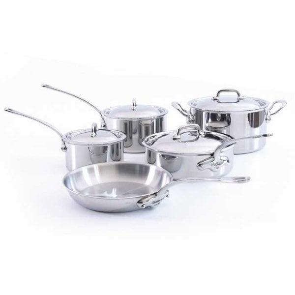 Mauviel M'Cook 5-ply 9-piece Cookware Set
