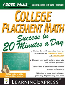 College Placement Math in 20 Minutes a Day (Paperback)