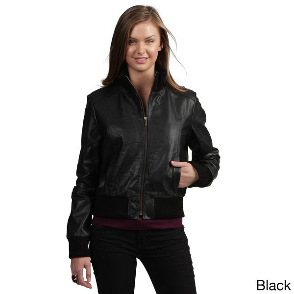 Premium Buffalo Leather Bomber Jacket in Black Size 4X (As Is Item)