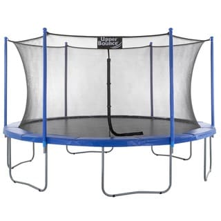 Upper Bounce Trampoline and Enclosure Set with Easy Assemble