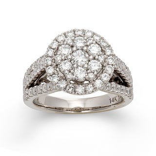 14k White Gold 1 3/4ct TDW Multi Stone Diamond Ring (H-I, I1)