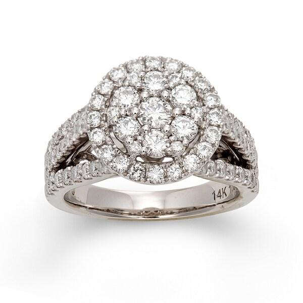14k White Gold 1 3/4ct TDW Multi Stone Diamond Ring (H-I, I1)