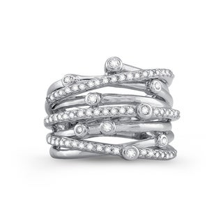 Sterling Silver 3/5ct TDW Diamond Multi-row Band (J-K, I2-I3)