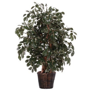 Sakaki Ficus Foliage 4-foot Silk/ Polyester Extra Full Decorative Plant