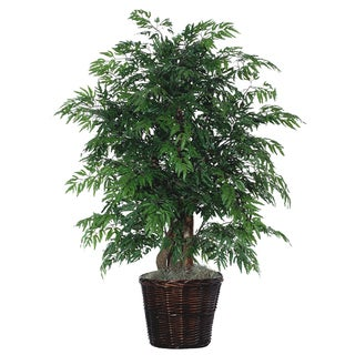 Ming Aralia Foliage 4-foot Silk/ Polyester Extra Full Decorative Plant