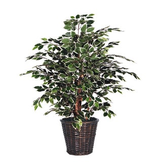 4-foot Variegated Extra Full Decorative Plant