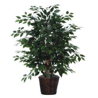 Ficus 4-foot Silk/ Polyester Extra Full Decorative Plant