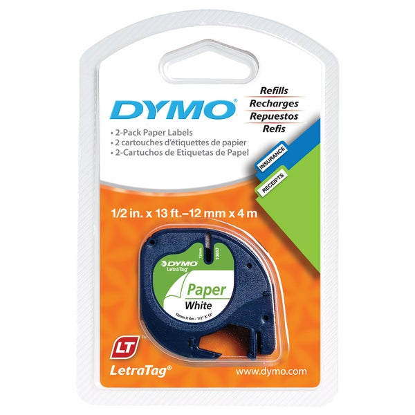 Dymo LetraTag Pack Paper Label Refills (12 Refill)