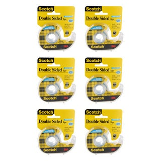 Scotch Removable Double Sided Tape (Pack of 6)