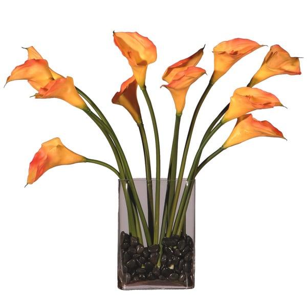 Dozen Callas Silk Plant