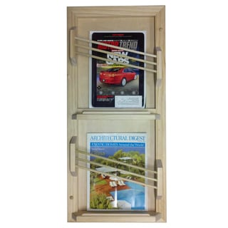 In The Wall Magazine Rack With Double Toilet Paper And Storage Cubby 14858005