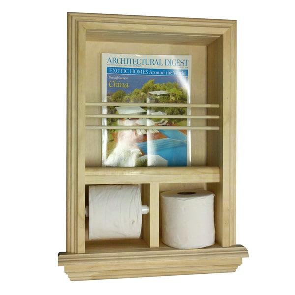 Recessed Magazine Rack/ Toilet Paper Combo III