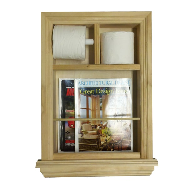 In the Wall Magazine Rack/ Toilet Paper Combo