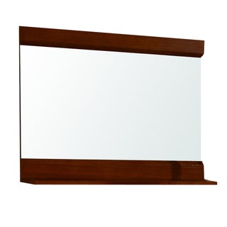 Walnut Finished Wood Mirror