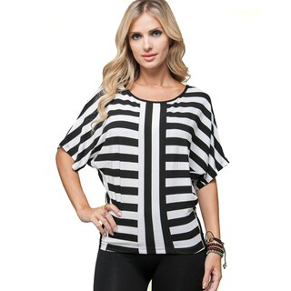 Stanzino Women's Black and White Striped Top