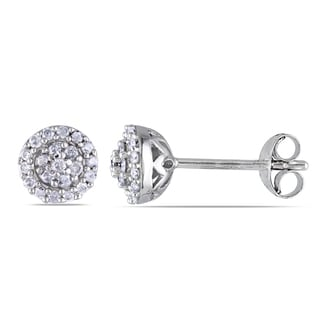 New! Miadora Sterling Silver 1/4ct TDW Diamond Earrings (H-I, I2-I3)