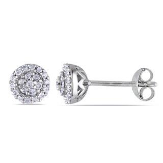 New! Miadora Sterling Silver 1/4ct TDW Diamond Earrings (H-I, I2-I3)