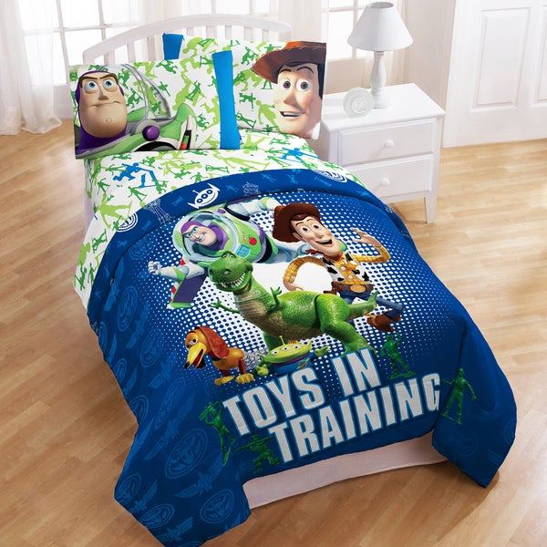 Disney Pixar Toy Story 'Toys in Training' 4-piece Bed in a Bag with Sheet Set