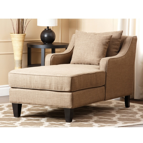 Abbyson living richmond taupe linen chaise 14858045 for Abbyson living soho cream fabric chaise