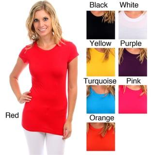 Lyssa Loo Women's Cap Sleeve Basic Tee Shirt