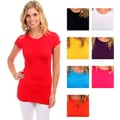 Lyssa Loo Women's Cap Sleeve Basic Tee Shirt