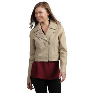 Tanners Avenue Women's Buffalo Distressed Leather Biker Jacket