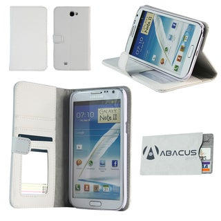 Deluxe Samsung Galaxy Note II White Stand Case with Secure Sleeve