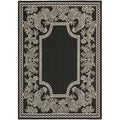 Safavieh Black/ Sand Indoor Outdoor Rug