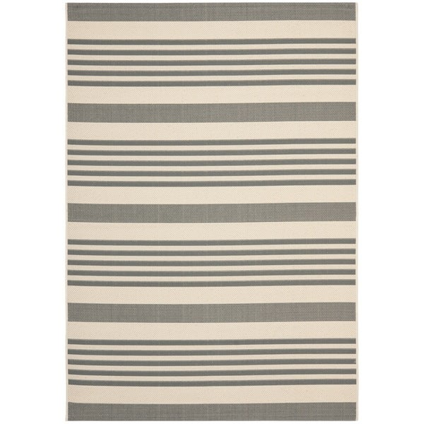 Safavieh Grey/ Bone Indoor Outdoor Rug