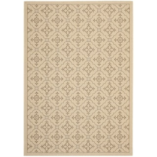 Safavieh Cream/ Brown Indoor Outdoor Rug