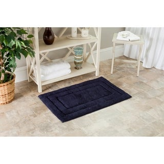 Safavieh Spa 2400 Gram Tri Navy 21 x 34 Bath Rug (Set of 2)