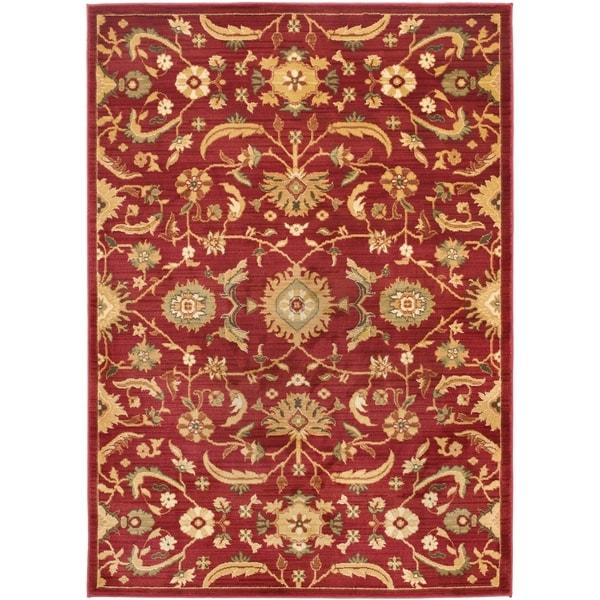Safavieh Oushak Red/ Gold Rug (8' x 11')