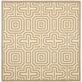 Safavieh Brown/ Natural Indoor/ Outdoor Polypropylene Rug (6'7 Square)