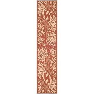 Safavieh Red/ Natural Indoor Outdoor Rug (2'2 x 14')