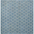Safavieh Handmade Moroccan Blue Grey Wool Rug (7&#39; Square)