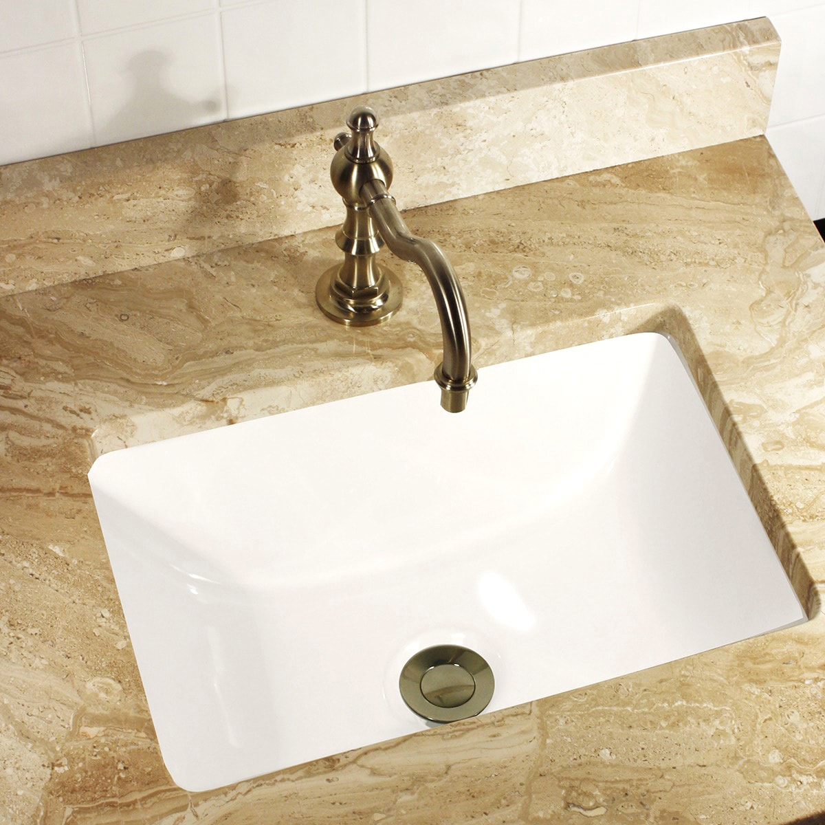 Undermount Bathroom Sink : ... Rectangle Ceramic Undermount WHITE Vanity Sink Bathroom SINKS eBay