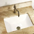 Highpoint Collection Rectangle Ceramic Undermount Vanity Sink