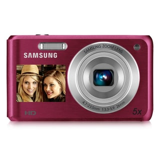 Samsung DV100 16.4MP Pink Dual View Digital Camera