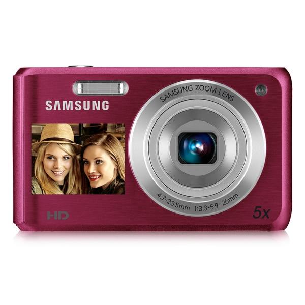 Samsung DV100 16.4MP Pink Dual View Digital Camera