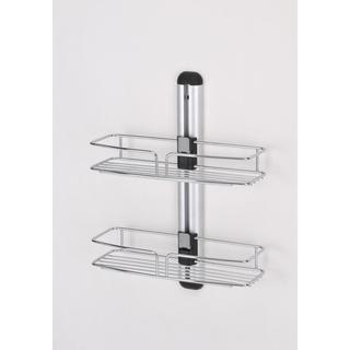 Modern Bathroom Wall Mount with Two Racks