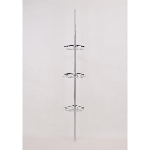 Simple Modern Bathroom Pole with 3 Racks