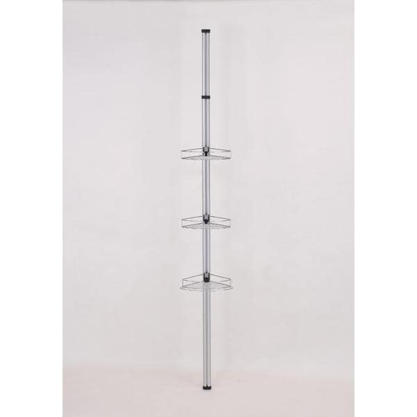 Modern Telescoping Pole with 3 Storage Racks