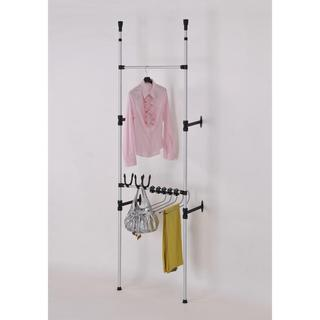 Modern Telescoping 3-Tier Clothing Jeans and Purse Storage Rack