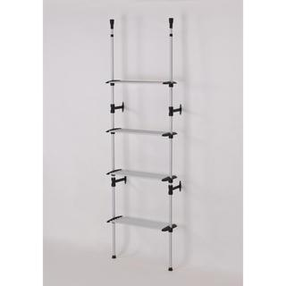 Modern 4-Tier Telescoping Clothing Rack