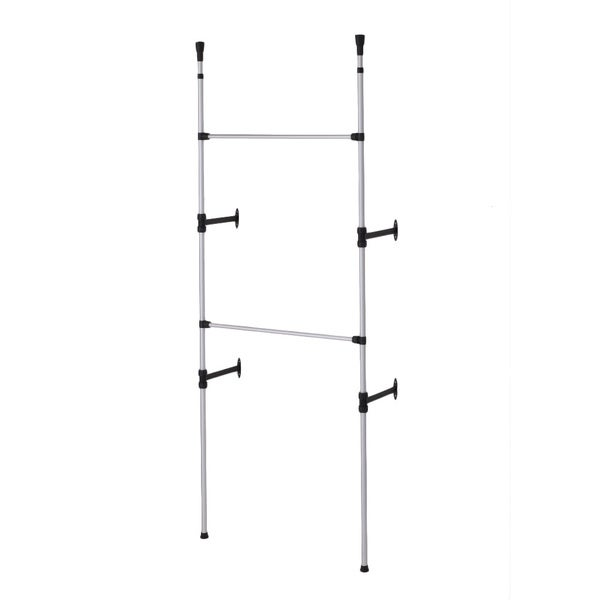 Modern 2-Tier Telescoping Clothes Rack