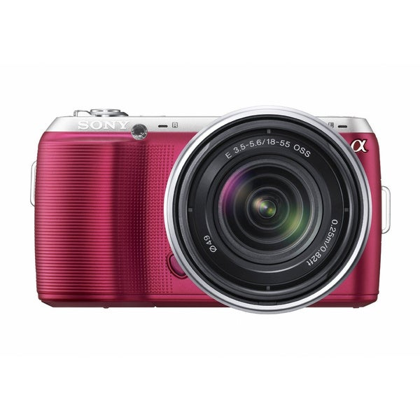 Sony Alpha NEX-C3 16.2MP Pink Digital Camera with 18-55mm Lens