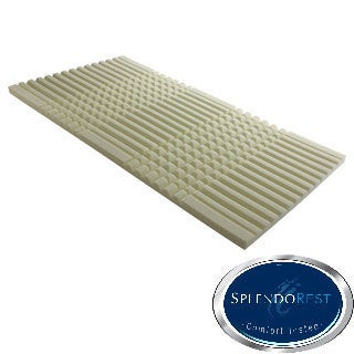 Splendorest Ultimate 2-inch Comfort Cool Channel Memory Foam Mattress Topper