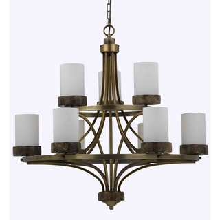 Travertino 9-light Burnished Brass Chandelier