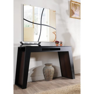 Atrix Black Walnut Finish Modern Console Table